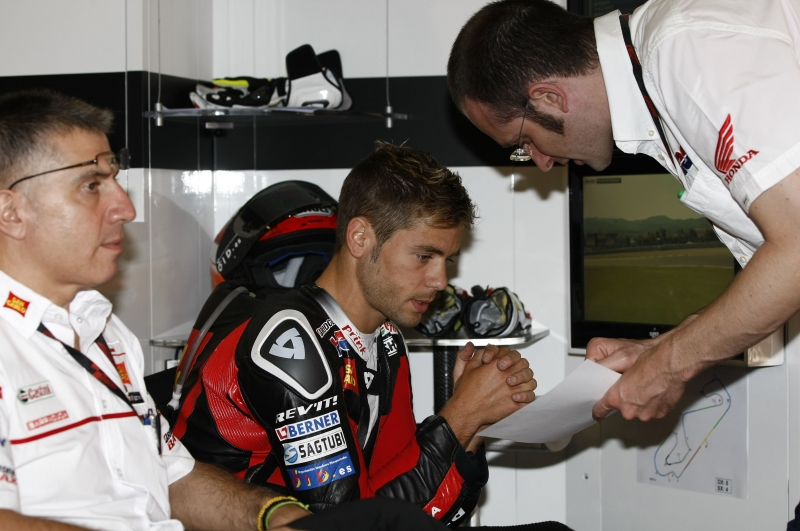 Bautista fastest Honda rider at post-race test and very happy with improvements