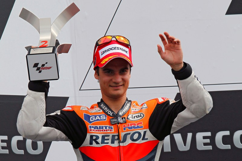 Second place puts Pedrosa back in the title hunt as championship leader crashes out