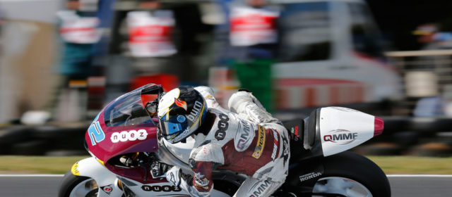 Elena Rosell sets aside crash in tricky conditions to take 30th on Moto2 grid