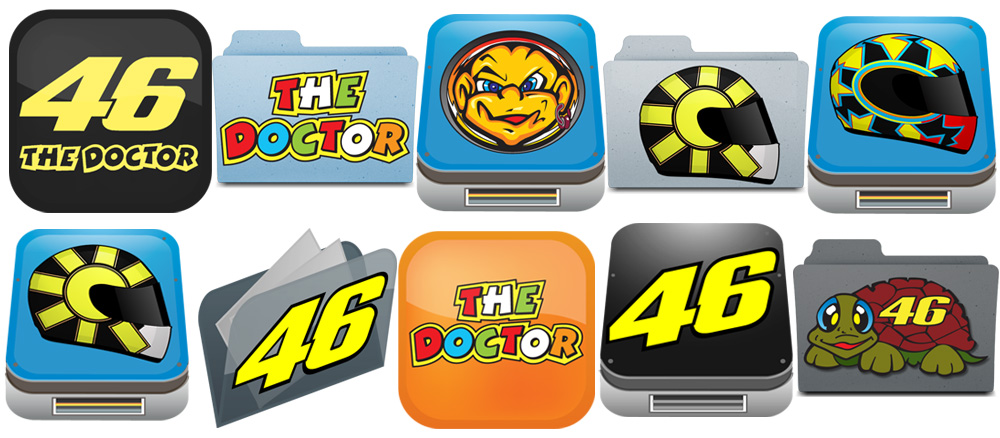 Exclusive Valentino Rossi 46 Desktop Icons For Mac OSX & Windows PC