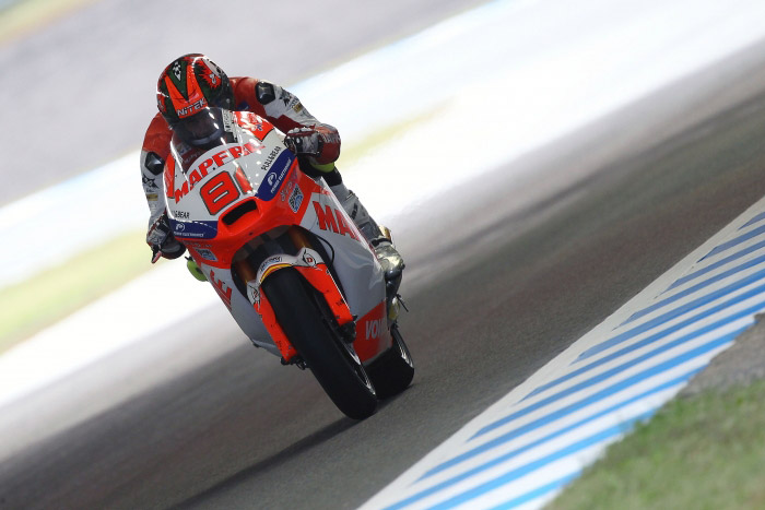 Jordi Torres and Nico Terol in 17th and 25th after mixed track conditions in 'all-in-one' session