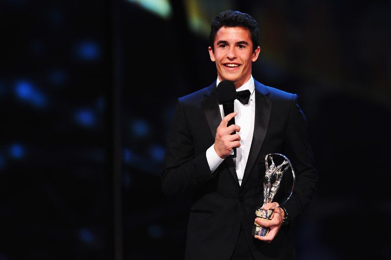 Marc Marquez receives 2013 Laureus World Breakthrough of the Year Award