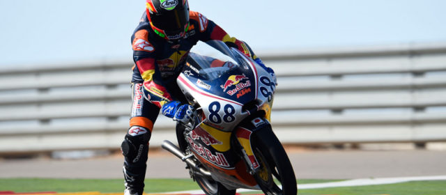 Jorge Martín fastest in Red Bull Rookies preseason test at Motorland Aragon