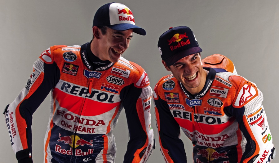 Photos: Marc Marquez & Dani Pedrosa, Repsol Honda Team Photoshoot 2015 - vroom-magazine.com