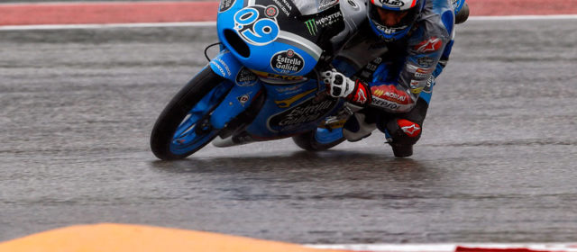 Mixed fortunes for Jorge Navarro and Maria Herrera in the wet at Austin