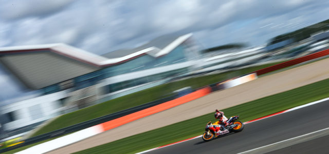 Marc Marquez and Dani Pedrosa start with good pace at cold Silverstone