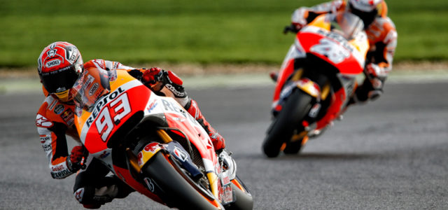 Silverstone pole for Marc Marquez, third on grid for Dani Pedrosa