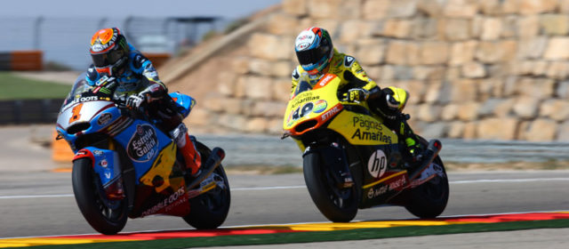 Alex Rins just thousandths of a second from victory at Aragon