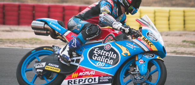 """Arón Canet: """"My front tyre was always sliding"""""""