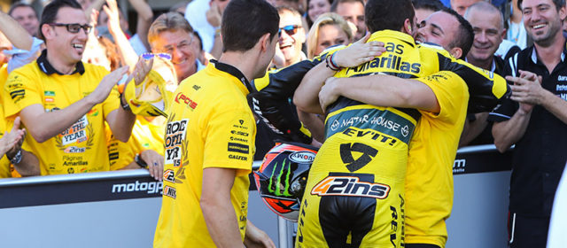 Rookie Alex Rins is runner-up at Valencia and in Moto2 World Championship