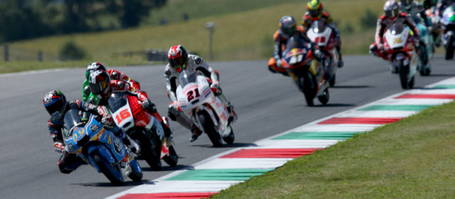 Jorge Navarro and Aron Canet crash out at Mugello