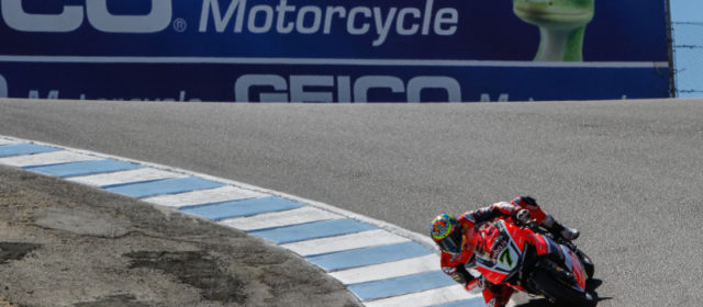 WorldSBK, Laguna Seca: Chaz Davies sets the benchmark on opening day