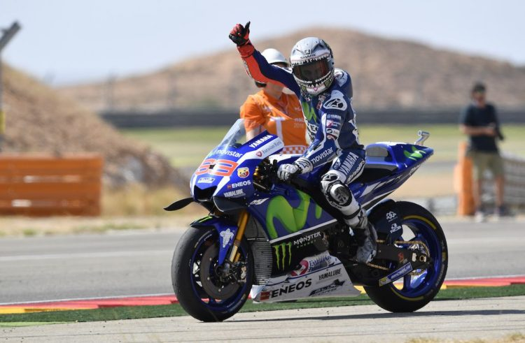 Jorge Lorenzo takes second place in Aragon Grand Prix
