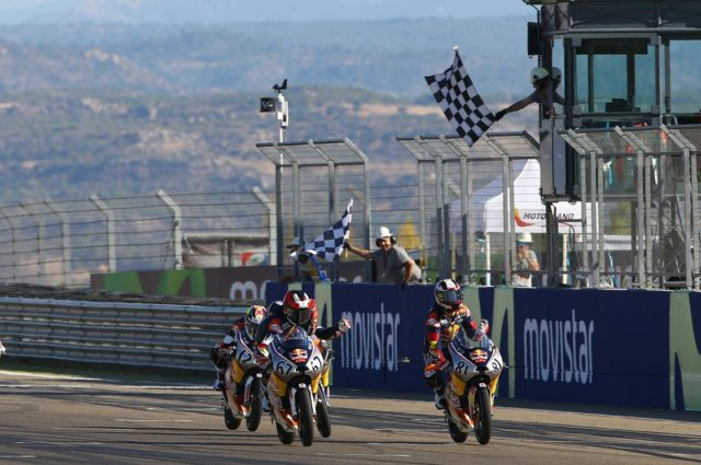 Kaito Toba, Aleix Viu, Red Bull Rookies Cup, Aragon MotoGP. 24th September 2016