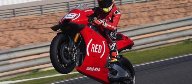 Alvaro Bautista sets to work in red at Cheste