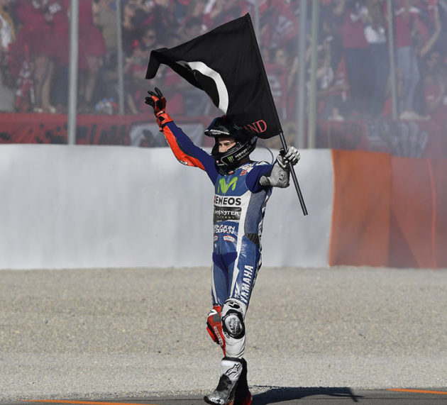 Jorge Lorenzo signs off in style at Yamaha with dominant Valencia victory