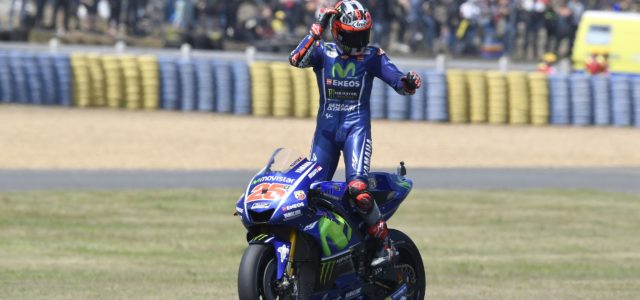Maverick Viñales is victorious in tense thriller in Le Mans.
