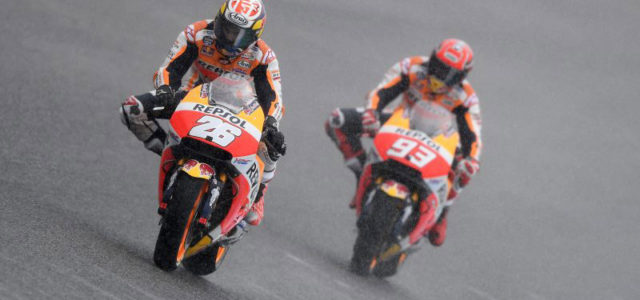 Dani Pedrosa leads the way on day 1 at Jerez, Marc Marquez concentrates on race pace