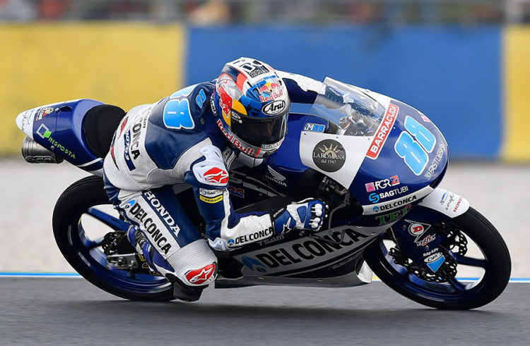 Jorge Martin crashes out at Le Mans