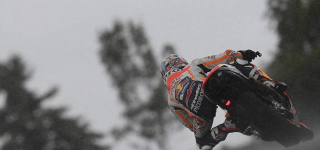 Positive start for Dani Pedrosa & Marc Marquez in mixed conditions at Sachsenring