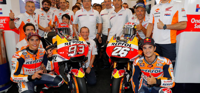 Master-class win for Marquez at Brno with Pedrosa second to complete a Repsol Honda Team 1-2