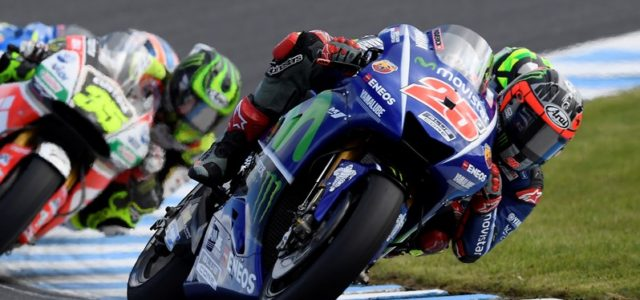 Maverick Viñales on the podium in Australia