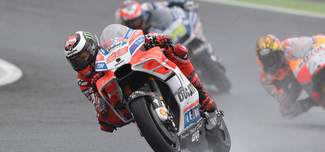 Jorge Lorenzo places sixth in wet Japanese GP