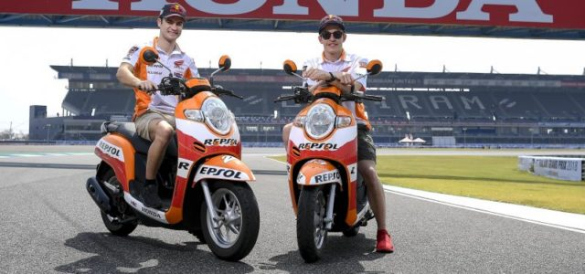 Marc Marquez and Dani Pedrosa ready to test at Buriram International Circuit