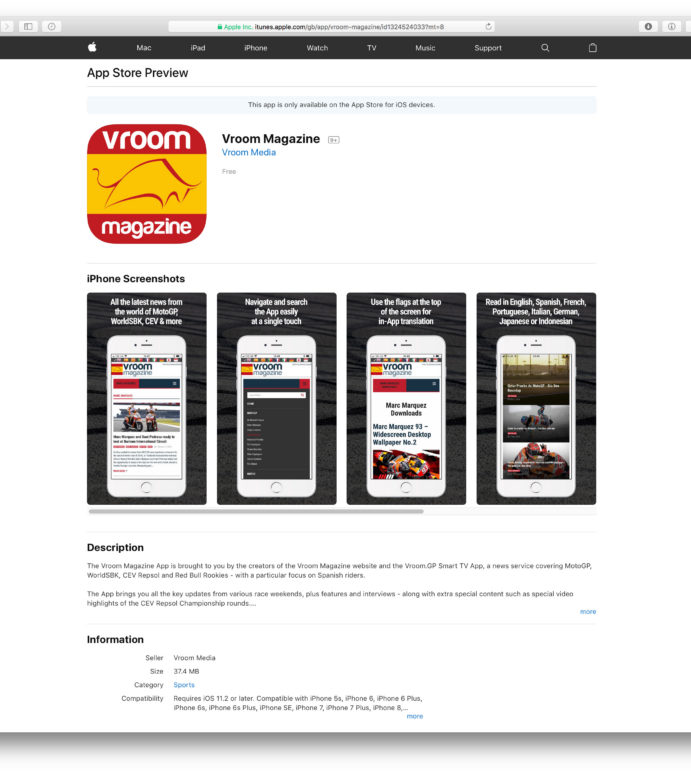 Vroom Magazine launches as iPhone App