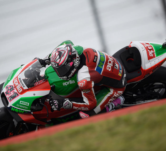 Aleix Espargaro faces grip, chatter, and balance issues on Qualifying day in Texas