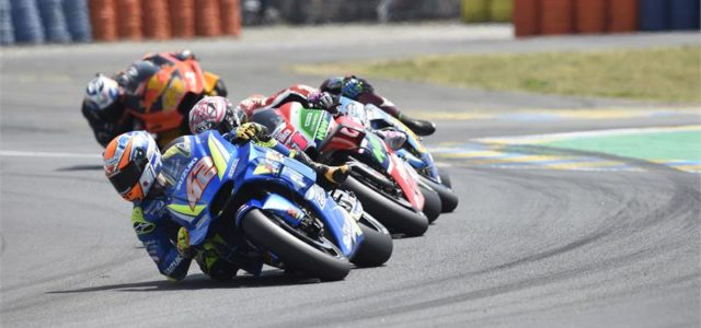 Alex Rins reaches target in Le Mans