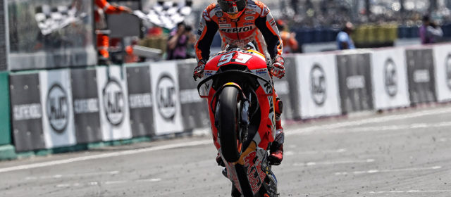 Masterful Marquez makes it three in a row, solid fifth place for Pedrosa at Le Mans