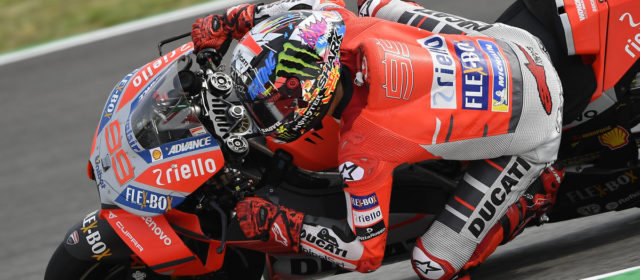 Jorge Lorenzo takes his first pole position for Ducati in Catalunya