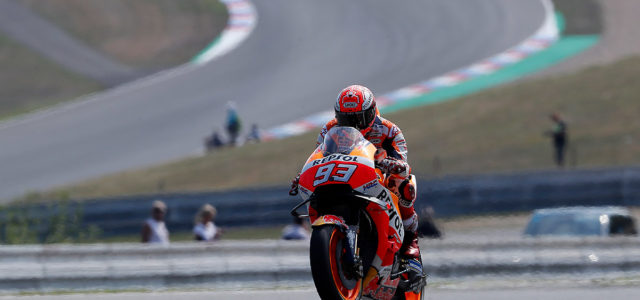 Front row start for Marc Marquez at Brno, Dani Pedrosa 10th