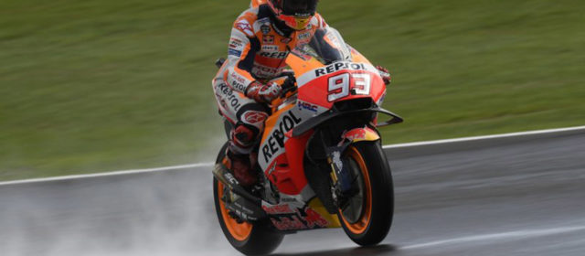 Bad weather conditions affect qualifying for Marc Marquez and Dani Pedrosa at Silverstone