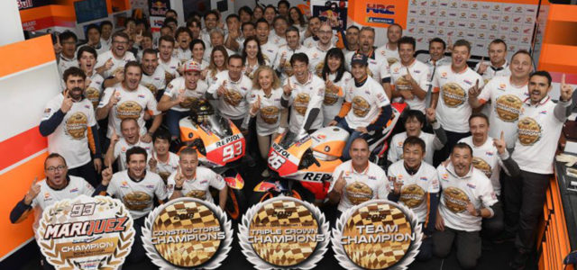 Honda clinch 2018 MotoGP Triple Crown in soaked Valencia, at Dani Pedrosa's final race