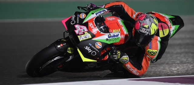 Aleix Espargaró will start from the fourth row in Qatar GP