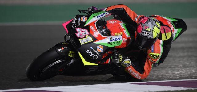 Aleix Espargaró will start from the fourth row in Qatar GP