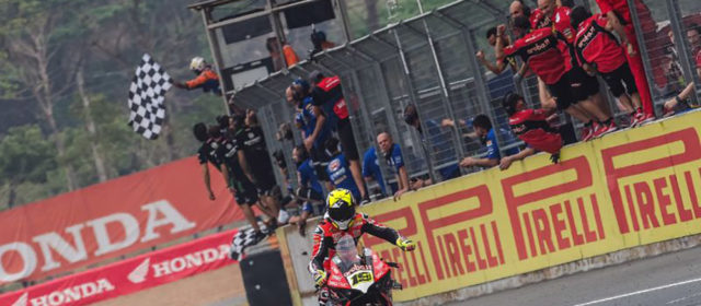#THAWorldSBK– Day 2 Bautista takes Race One win and fourth successive victory in WorldSBK