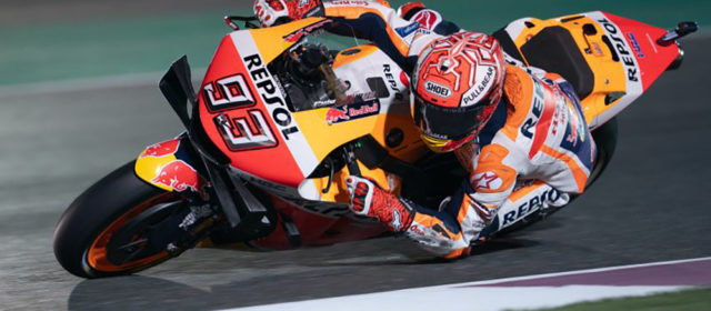 Marc Marquez opens 2019 with front row for Qatar GP, bruised Jorge Lorenzo fights to 15th