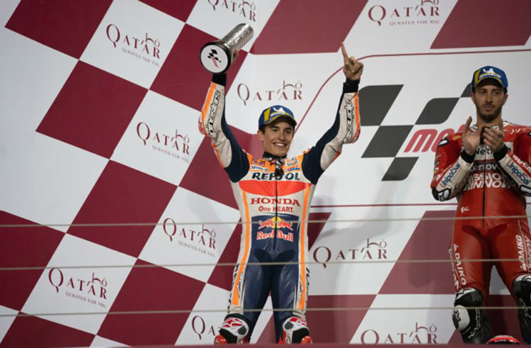 Marc Marquez fights for second in 22-lap Qatar thriller, Jorge Lorenzo takes points for 13th on debut