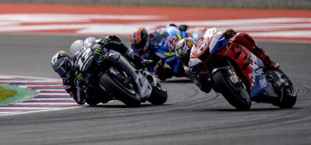 Maverick Viñales crashes out of Argentina GP