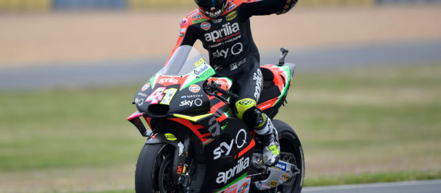 Aleix Espargaró and Aprilia in the points in Le Mans