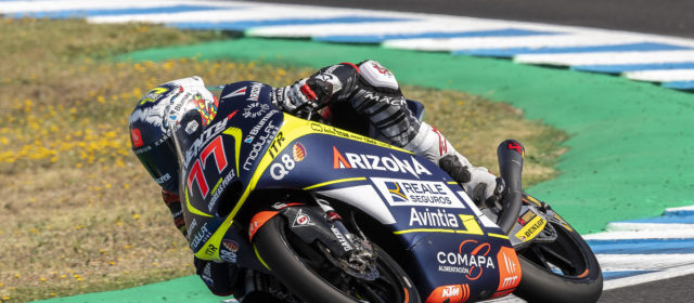 Tyre problems for Vicente Pérez in Spain