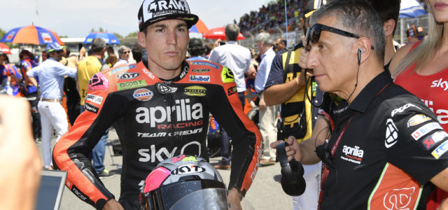 An accident takes Aleix out of the race in Barcalona