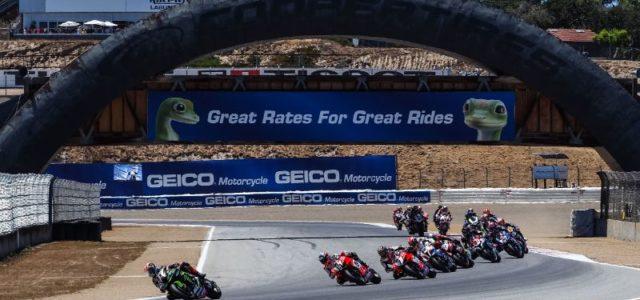 #USAWorldSBK – Day 2: Rea conquers Race 1 at Laguna Seca as Bautista crashes again