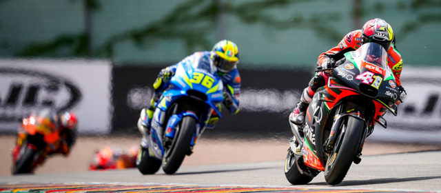 Disappointment for Aleix Espargaro as late crash ends German GP hopes