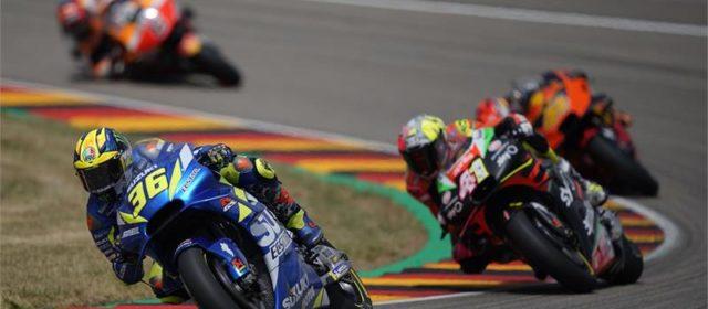 Seventh place for Joan Mir in Germany, DNF for Alex Rins