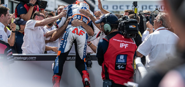Augusto Fernandez takes hard fought battle to the final lap to win in Misano