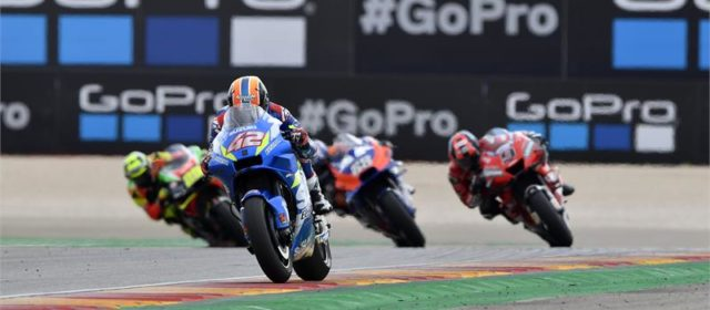 Alex Rins 9th and Joan Mir 14th in difficult Aragon GP
